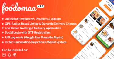 Foodomaa PHP Script